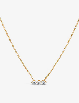 THE ALKEMISTRY: Dinny Hall Shuga 14ct yellow-gold and 0.18ct diamond necklace