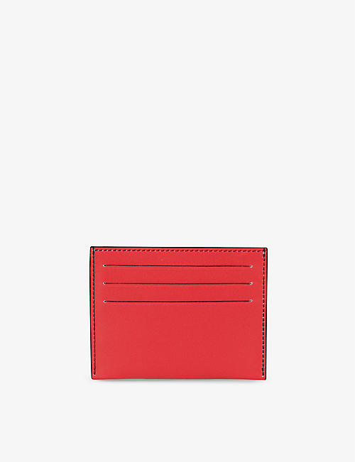 GIVENCHY: Refracted logo-print leather card holder