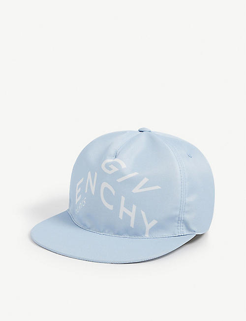 GIVENCHY: Refraction logo-embroidered woven baseball cap
