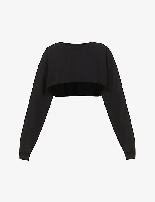 JOAH BROWN: Cropped cotton-jersey jumper