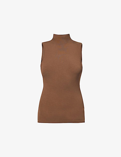 JOAH BROWN: High-neck stretch-modal vest