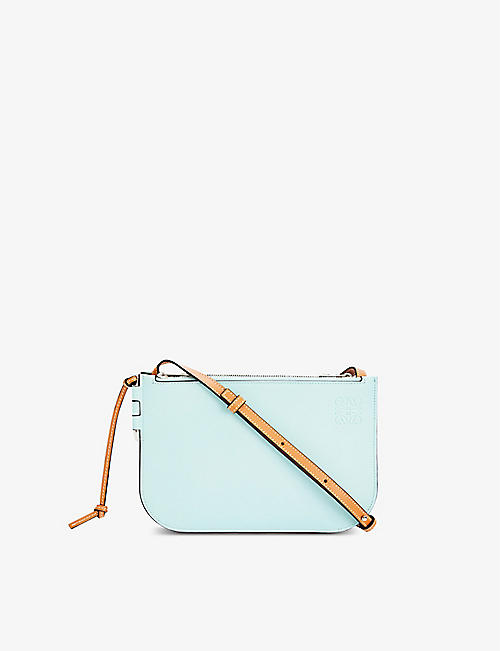 LOEWE: Gate double-zip leather cross-body pouch