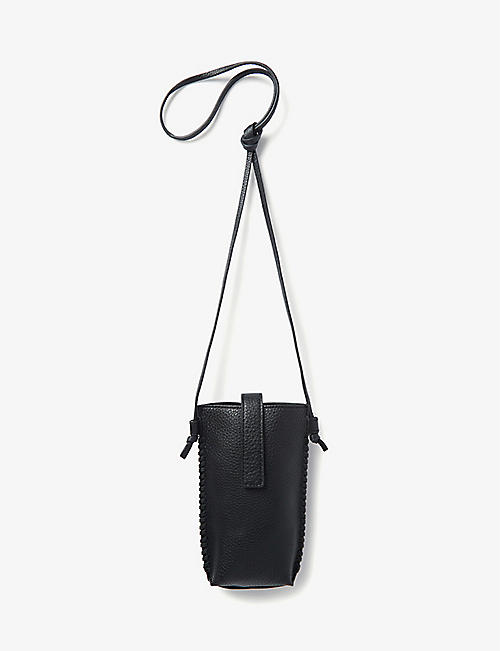 THE WHITE COMPANY: Leather phone pouch