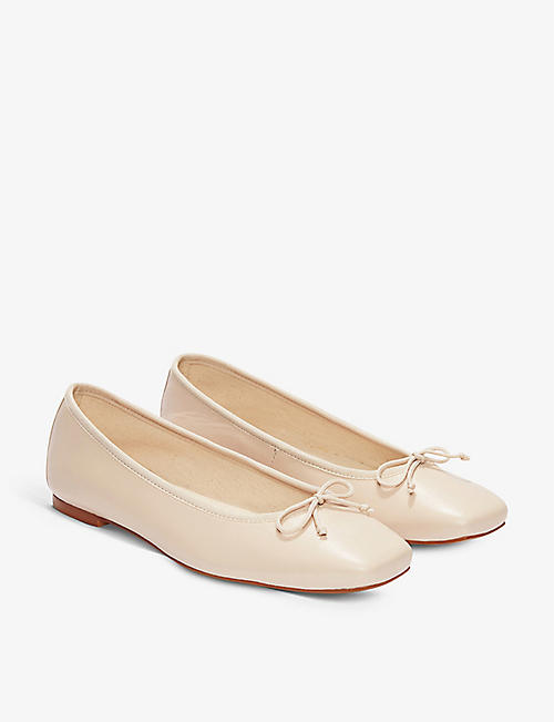 THE WHITE COMPANY: Leather ballet pumps