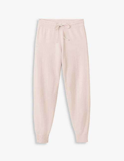 THE WHITE COMPANY: Tapered high-rise cashmere jogging bottoms