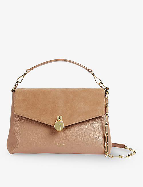 TED BAKER: Miriam leather and suede shoulder bag