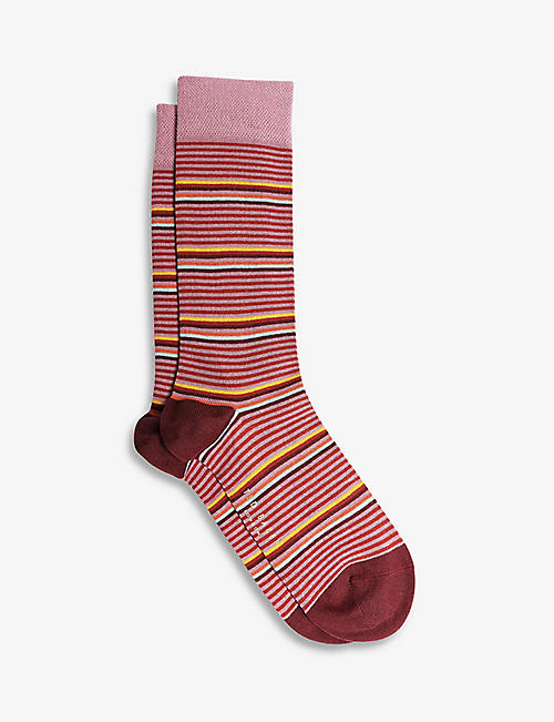 TED BAKER: Assorted stretch-cotton socks pack of three