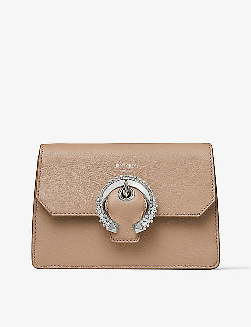 JIMMY CHOO: Madeline leather cross-body bag