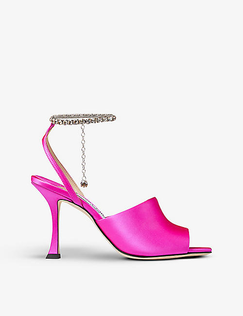 JIMMY CHOO: Sae heeled satin sandals