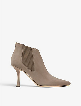 JIMMY CHOO: Maira 90 suede ankle boots