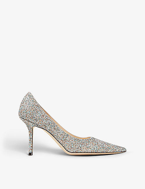 JIMMY CHOO: Love 85 heeled glitter courts