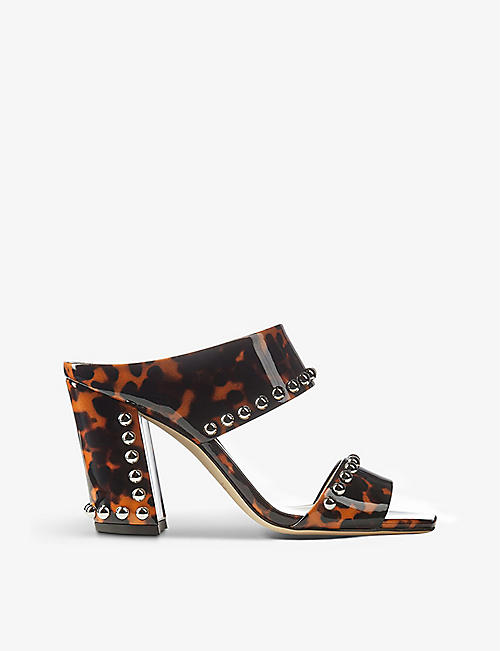 JIMMY CHOO: Matty 85 stud-detail leather heeled sandals
