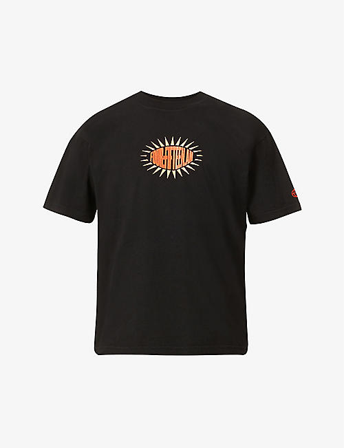 FOUR:FIFTEEN.AM: Elevate Yourself graphic-print organic-cotton T-shirt