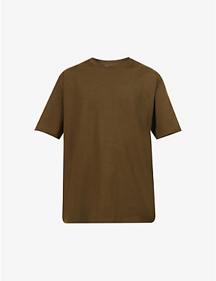 Y3: Brand-appliqué cotton-jersey T-shirt