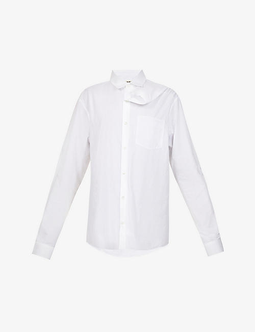 Y/PROJECT: Asymmetric oversized organic cotton-poplin shirt