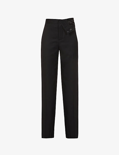 Y/PROJECT: Tapered asymmetric-rise wool trousers