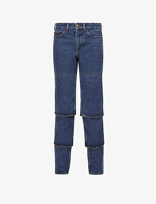 Y/PROJECT: Multi Cuff tapered high-rise organic-denim jeans