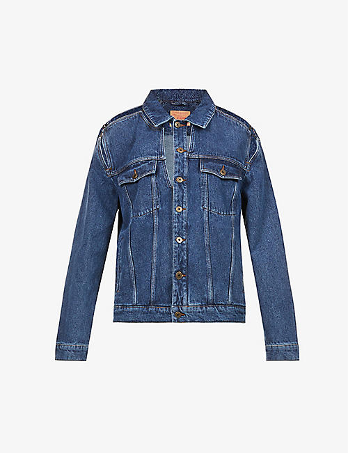 Y/PROJECT: Classic cut-out organic-denim jacket