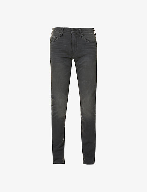 PAIGE: Lennox slim-fit mid-rise stretch-denim jeans