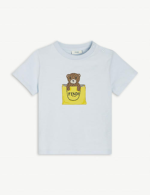 FENDI: Bear in the Bag cotton-jersey T-shirt 6-24 months