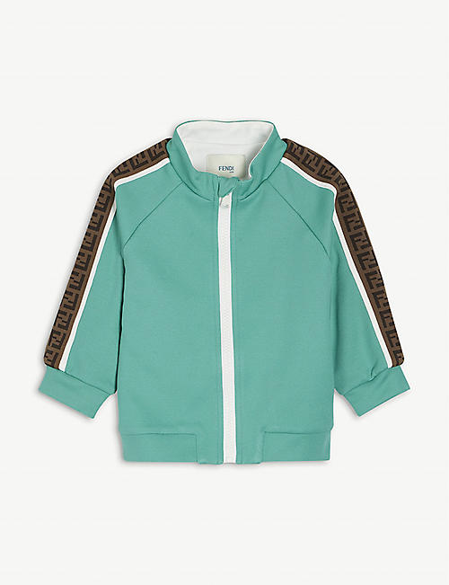 FENDI: Retro logo-tape woven track top 6-24 months