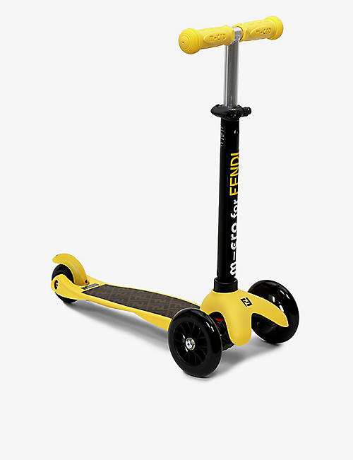 FENDI: Logo-embossed aluminium scooter 3-6 years
