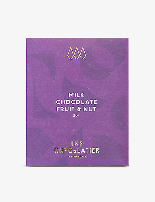 THE CHOCOLATIER: Fruit and nut milk chocolate bar 50g