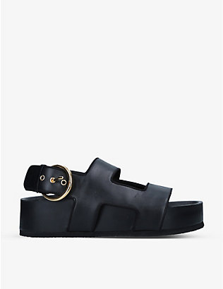 NEOUS: Cher leather flatform sandals