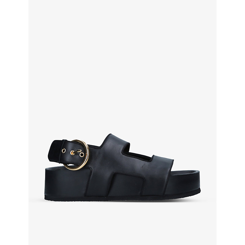 Neous CHER LEATHER FLATFORM SANDALS