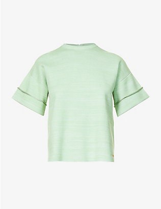 VICTORIA VICTORIA BECKHAM: Boxy-fit stretch-knit T-shirt