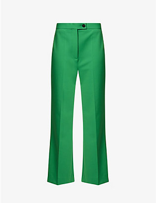 VICTORIA VICTORIA BECKHAM: Regular-fit high-rise woven trousers