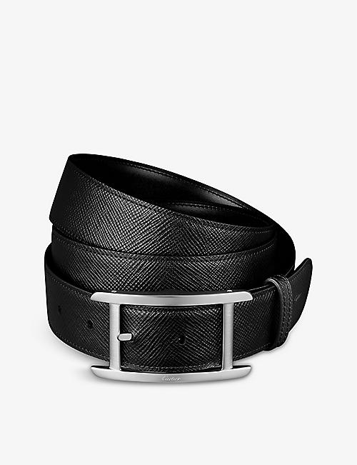 CARTIER: Tank de Cartier reversible leather belt