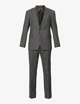 RALPH LAUREN PURPLE LABEL: Single-breasted slim-fit straight wool suit