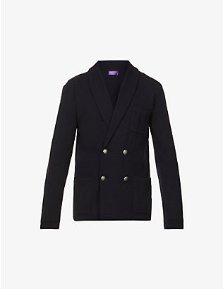 RALPH LAUREN PURPLE LABEL: Double-breasted cashmere cardigan