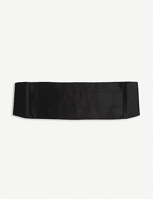 RALPH LAUREN PURPLE LABEL: Silk cummerbund