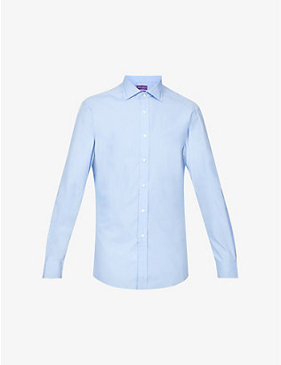 RALPH LAUREN PURPLE LABEL: Performance tailored-fit cotton-blend shirt