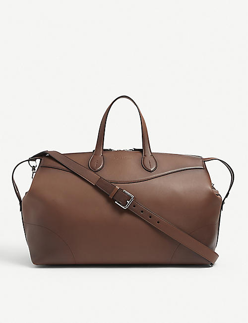 RALPH LAUREN PURPLE LABEL: Voyager leather duffle bag