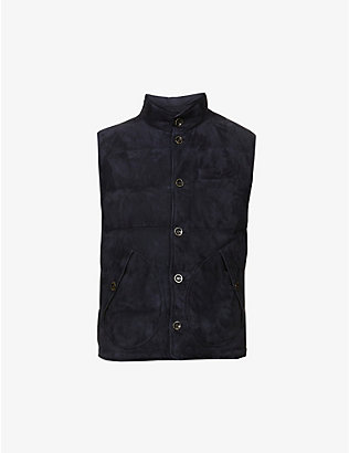 RALPH LAUREN PURPLE LABEL: Mardell padded suede gilet