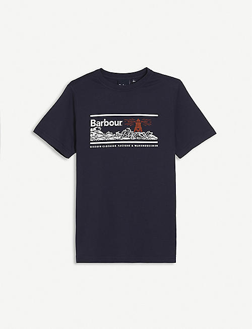 BARBOUR: Riley graphic-print cotton T-shirt 6-15 years