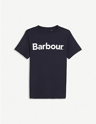 BARBOUR: Logo cotton T-shirt 6-15 years