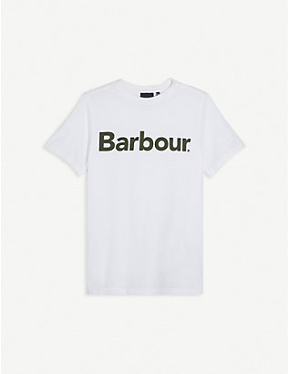 BARBOUR: Logo-print cotton T-shirt 6-15 years
