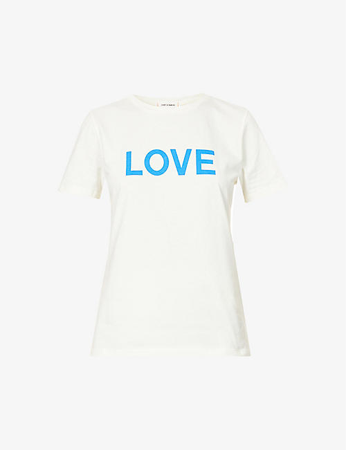 CHINTI AND PARKER: Love slogan-print cotton-jersey T-shirt