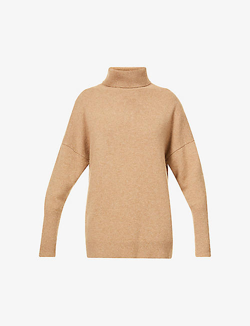 CHINTI AND PARKER: Roll-neck relaxed-fit cashmere jumper