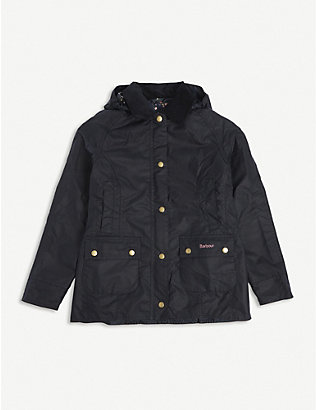 BARBOUR: Beadnall waxed cotton jacket 6-15 years