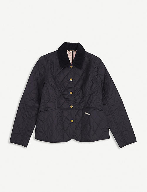 BARBOUR: Liddesdale quilted nylon jacket 6-16 years