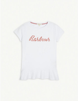 BARBOUR: Rebecca logo-print cotton T-shirt 6-13 years