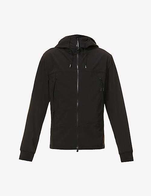 CP COMPANY: Softshell Goggle hooded stretch-shell jacket