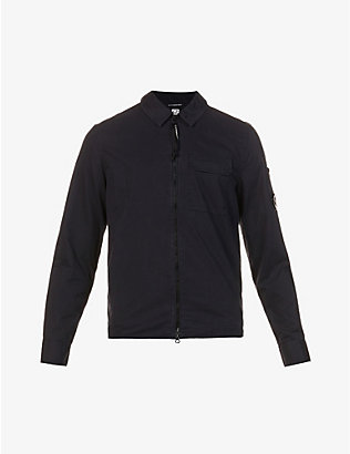 CP COMPANY: Long-sleeved patch-pocket cotton shirt