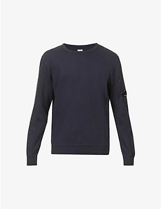 CP COMPANY: Lens-detail cotton-jersey jumper