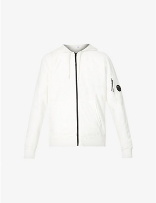 CP COMPANY: Lens-detail cotton-jersey zipped hoody